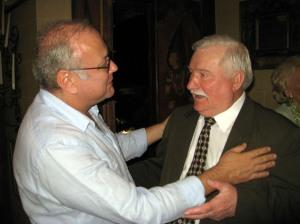 Tomasz Rut and President Lech Walesa